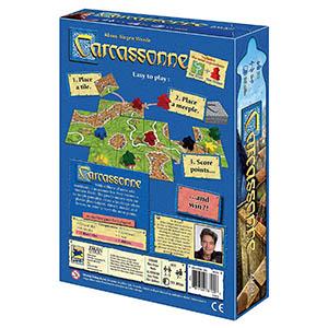 Carcassonne Board Game Box Back