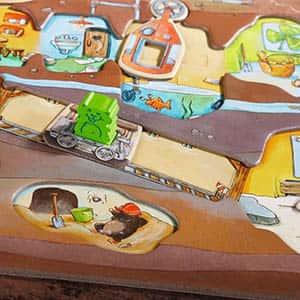 Hamster Clan Board Game Closeup