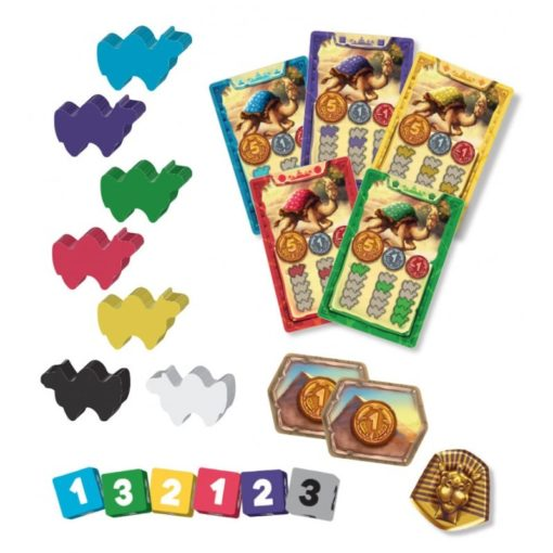 Camel Up Second Edition Board Game Components