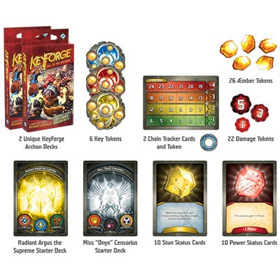 Keyforge Call of the Archons Starter Box Contents