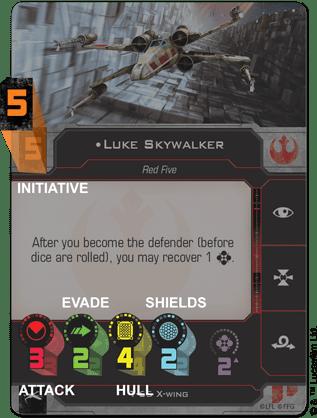 X-Wing Second Edition Core Set Card Closeup