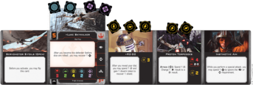 X-Wing Second Edition Core Set Card Sample