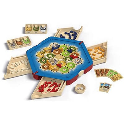 Catan Traveler Compact Edition Board Game Layout