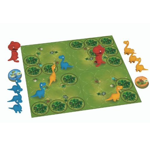 Jurassic Snack board game layout