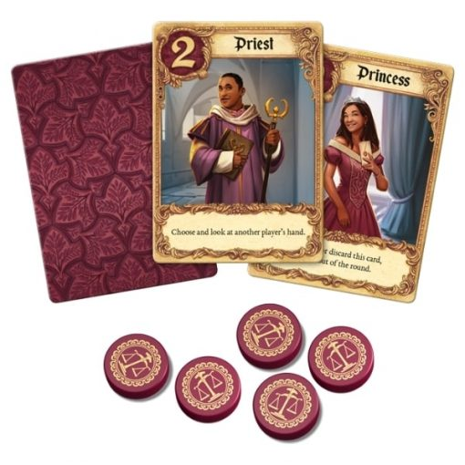 Love Letter Card Game Cards and Tokens